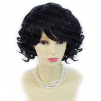 Summer Style Short Curly Off Black Skin Top Ladies Wigs WIWIGS UK