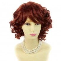 Summer Style Short Curly Copper Red Skin Top Ladies Wigs WIWIGS UK