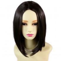 AMAZING Face Frame Soft Medium BoB Dark Brown Ladies Wig skin top Hair WIWIGS UK