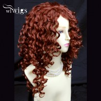 Lovely Long Curly Fox Red skin top Versatile Hair Ladies Wig