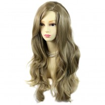 Sexy Fabulous Long Layers Wavy Wig ASH blonde Ladies Wigs Skin Top UK