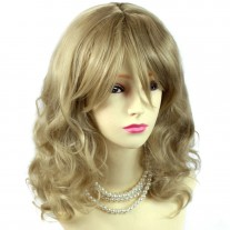 Stunning Heat Resistant Curly Light Honey Blonde Wig WIWIGS UK