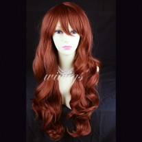 NEW Sexy LONG Wavy Copper Red skin top Ladies WIGS