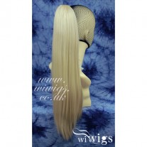 BLonde Mix Straight Long Claw Clip Ponytail Hair Piece Extension UK
