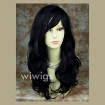 Wonderful wavy Long Black Ladies Wigs UK