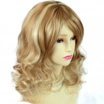 Stunning Heat Resistant Curly Pale Blonde, Strawberry Blonde & Golden Blonde Wig WIWIGS UK