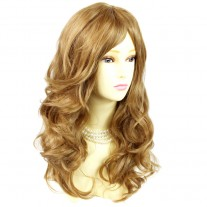 Wonderful wavy Long Golden Blonde mix Heat Resistant Ladies Wigs Hair UK