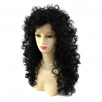AMAZING SEXY Wild Untamed Long Curly Wig Black Brown Ladies Wigs WIWIGS UK