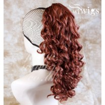 Fox Red Ponytail Irish Dance Extension Spiral Curly Hair Piece UK