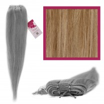 "DIY Double Weft Lush 'Ash Blonde' 16"" Hair Extensions Deluxe Human Hair."