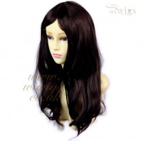 Beautiful Sexy Wavy Dark Brown Mix Dark Auburn Long Black Cherry Ladies Wigs UK
