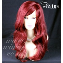 Wonderful wavy Long Burgundy mix Red Heat Resistant Ladies Wigs Hair UK