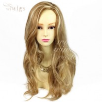 Stunning Long Wavy Blonde mix Sink Top Heat Resistant Ladies Wigs UK