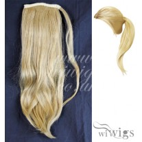 Wiwigs Ladies 1 Piece Clip Golden Blonde mix Straight Ponytail Wrap around Pony