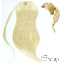 Wiwigs Ladies 1 Piece Clip Pale Blonde Straight Ponytail Wrap around Pony