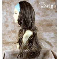 Blonde Brown 3/4 Fall Hair Piece Long Straight Layered wavy Half Wig hairpiece