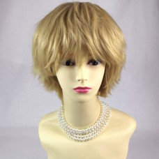 STRIKING Blonde Man's Wig Short Spikey Style Lady Wig Cosplay Party WIWIGS UK