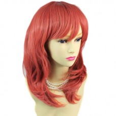 Sexy Face Frame Long Wavy Neon Pink Ladies Wigs Cosplay Party Hair WIWIGS UK