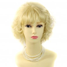 Classic Short Wig Curly Blonde Summer Style Ladies Wigs WIWIGS UK