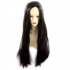 Beautiful Sexy Long Straight Black Brown Ladies Wigs Skin top Hair WIWIGS UK