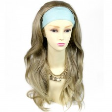 Sexy Blonde mix Pretty Long 3/4 Fall Wig Hairpiece Wavy Layered Hair Ladies wigs from WIWIGS UK