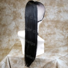 Black Brown Straight Long Claw Clip Ponytail Hair Piece Extension UK