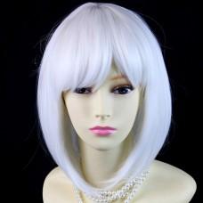 Wiwigs Silky Short Bob Snow White Ladies Wig Skin Top