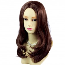 Face Frame Soft Long Dark Auburn Red mix Natural Sink Top Ladies Wigs WIWIGS UK