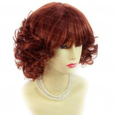 Lovely Summer Style Short Curly Copper Red Skin Top Ladies Wigs WIWIGS UK