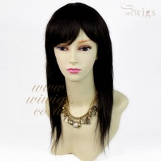 100% Real Human Hair Off Black Natural Straight Full Ladies Wigs from WIWIGS