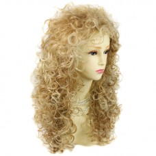 AMAZING SEXY Wild Untamed Long Curly Wig Strawberry Blonde mix Ladies Wigs UK