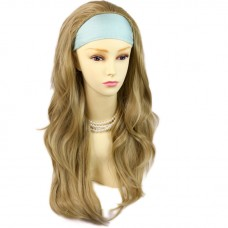 Golden Blonde Long Layered Wavy ends 3/4 Wig Fall Hairpiece Hair Piece UK