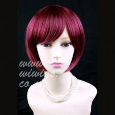 Classy Short Bob Skin Top Burgundy Red mix Lady Wig UK 1239