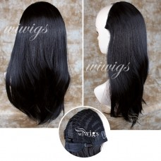 Wiwigs Jet Black Long 1 PIEC Straight Hair Extension Hairpiece