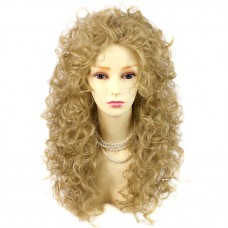 AMAZING SEXY Wild Untamed Long Curly Wig Gold blonde Ladies Wigs WIWIGS UK