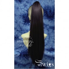 Brown Straight Long Claw Clip Ponytail Hair Piece Extension UK