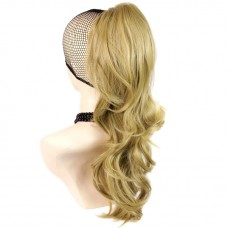 Long Wavy Gold blonde Ponytail Claw Clip in Hair Piece Extension UK