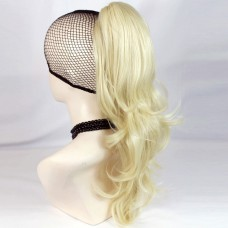Long Wavy Pale blonde Ponytail Claw Clip in Hair Piece Extension UK