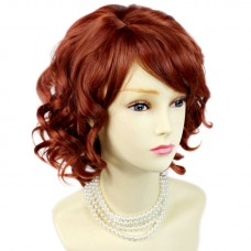 Lovely Short Wig Curly Fox Red Summer Style Skin Top Ladies Wigs UK