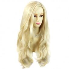 Sexy Fabulous Long Layers Wavy Wig Light Blonde Ladies Wigs Skin Top UK