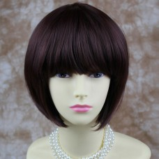 Wiwigs Silky Short Bob Burgundy Red Mix wig Ladies Wig Skin Top