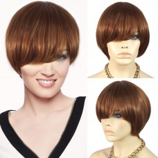 Wiwigs Modern Lovely Short Bob Auburn with Ginger Blonde Hair Ladies Skin Top Wigs