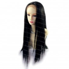 Beautiful Black Brown Long Straight Lace Front Ladies Wigs soft hair WIWIGS UK