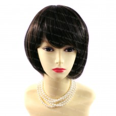 Beautiful Posh Short Hair Black & Red Ladies Wigs Summer Style from WIWIGS UK