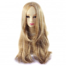 Sexy Long Strawberry Blonde mix skin top Wavy hair Ladies Wigs from WIWIGS UK
