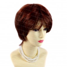 Posh Short Fox red mix Brown Ladies Wigs Summer Natural hair from WIWIGS UK