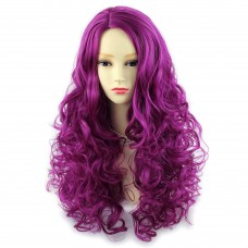 AMAZING Sexy Purple Red Long Curly Ladies Wigs skin top Full hair Wiwigs ®