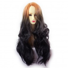 Wiwigs ® Pretty Long Wavy Wig Dark Brown Dip-Dye Ombre Hair UK