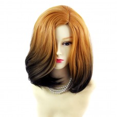 Wiwigs ® Wonderful Medium Bob Style Wig Dark Brown Dip-Dye Ombre Hair UK