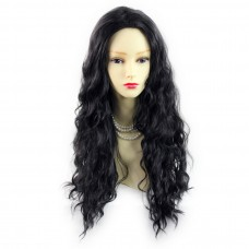 Wiwigs ® fabulous black brown long curly ladies wig uk